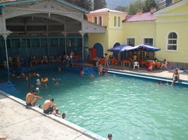 Public thermal pool in Baile Herculane, Romania