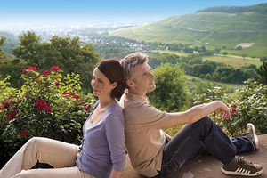 Couple looking at Romantic Black Forest in Badenweiler, Germany