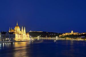 Budapest, Hungary by night