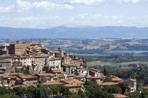The Tuscan town of Chianciano Terme, Italy
